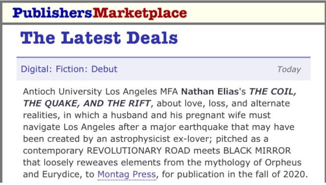Novel - Publishers Marketplace